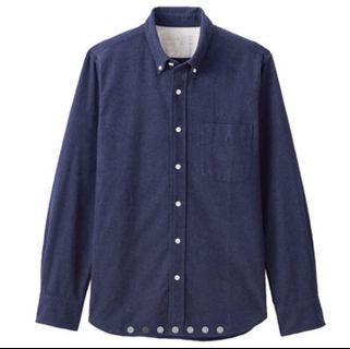 🚚 法蘭絨藍色襯衫