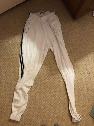 Brandy white joggers one size