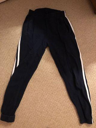 Navy blue brandy joggers one size