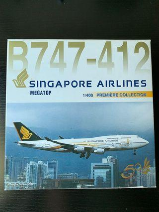 🚚 Singapore Airlines B747-400 model Dragon Wings 1:400