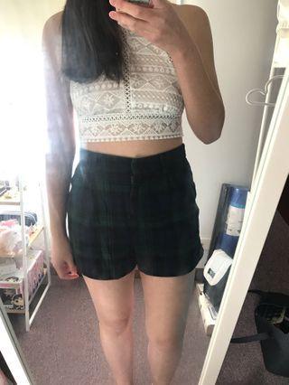 Checkered Shorts | Size 8