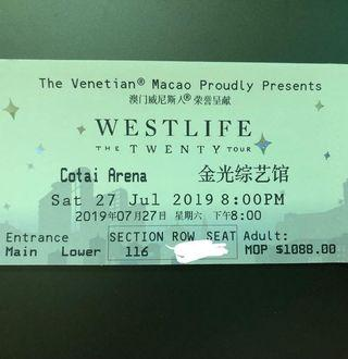 WESTLIFE THE TWENTY TOUR 27/7