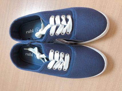 🚚 BNWT Rubi navy blue nylon net sneakers keds style shoes