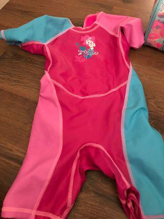 Swimming Costume and arm float