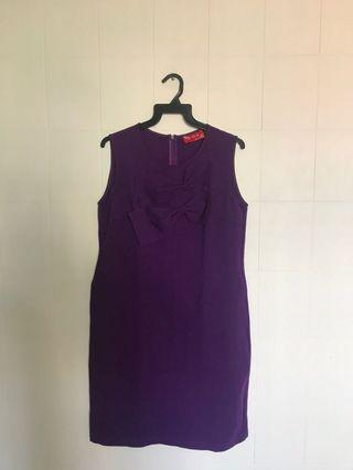 🚚 Purple ribbon dress