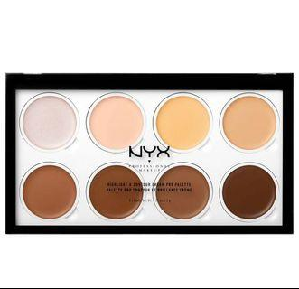 🚚 NYX Highlight and Contour Cream Pro Palette