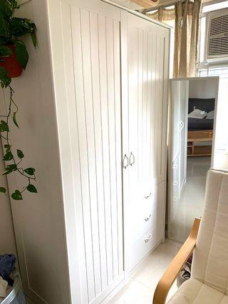3 mths used: IKEA White Wardrobe
