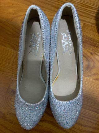 結婚新娘水晶高跟鞋