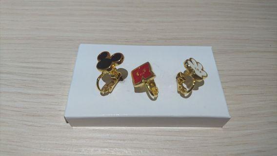 🚚 米奇款夾式耳環(全新)