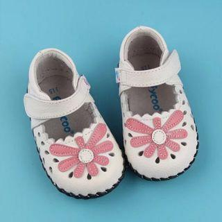 Baby Girl Freycoo Shoes White Pink Flower