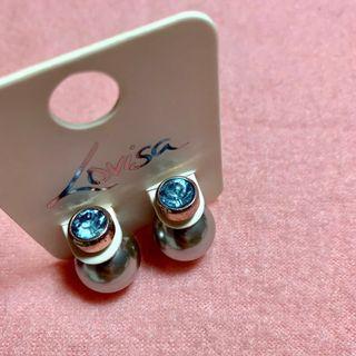 Blue/Grey Bauble Earrings
