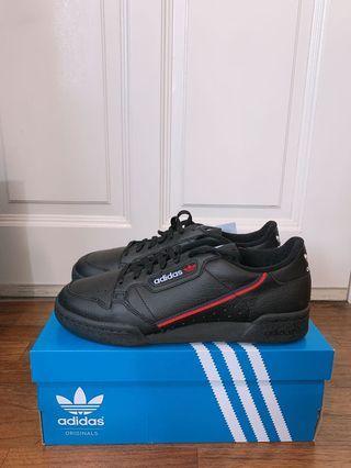 🚚 Adidas Continental 80 Mens Sneaker Black UK8 US8.5 US9