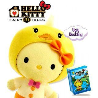 Hello Kitty Plush Toy Little Red Riding Hood & Ugly Duckling