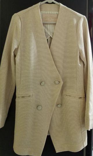 日本米白/杏色長西装褸 Beige Long Blazer