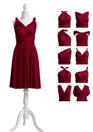 Infinity Bridesmaid Dress (Burgundy)
