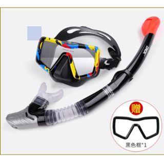 Snorkeling or diving mask set