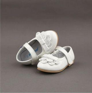 🚚 Baby Girl Freycoo Shoes White Patent Flower