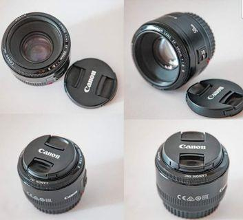 Canon lens 50mm f1.8