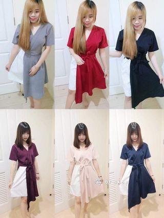 Stylish two way Dress (Navy)