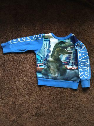 Sweater H&M Dinosaurus blue 1 s.d 2