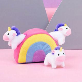 Zippy paws burrow toy - Rainbow Unicorn