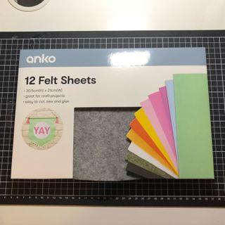 12 Felt sheets
