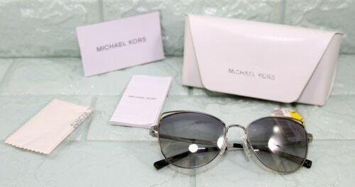 MICHAEL KORS Blue Grey Mirror Cat Eye Sunglasses 0MK1035