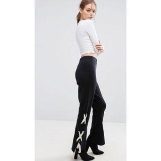 ASOS Lace Up Flared Pants
