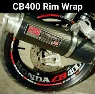 Full Cb400 rim wrap outer and inner decal