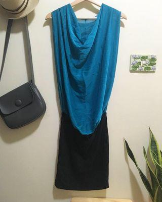🚚 高雅設計垂墜風洋裝小禮服窄裙