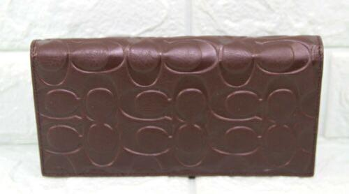Coach Men's Embossed Signature Smooth Leather Long Wallet-BROWN