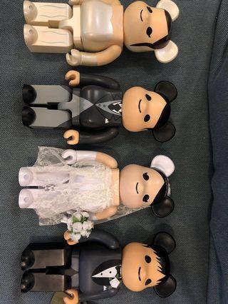 Bearbrick 二手wedding 400% 四隻