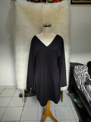 Cape dress hitam/black