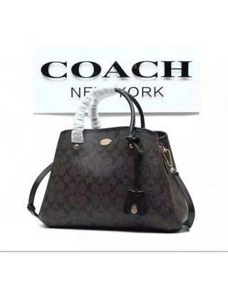 Preloved COACH Signature Jacquard 2 In 1 Tote/Sling Handbag