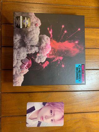 NCT #127 cherry bomb album and photo card