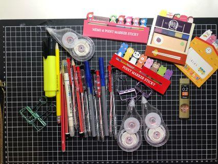 Assorted stationery