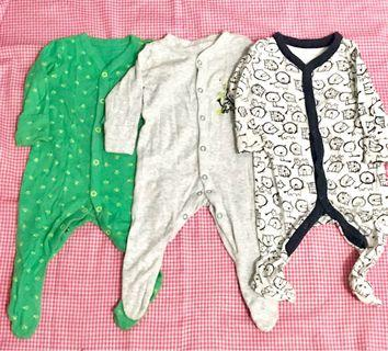 Mothercare Sleepsuit (3item)