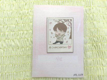 BTS Jimin #chimchimday with Sakura Polaroid Hard Enamel Pin