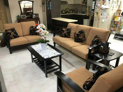 Sofa Set with coffee table and side table