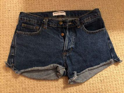 American Apparel jean shorts size 26