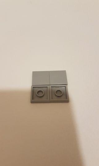 Lego 3068 tile 2x2 with groove淺灰色 20塊
