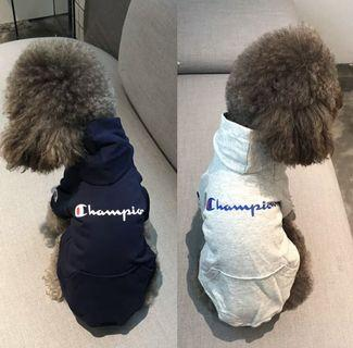 BN Pets Boys Hoodie Streetwear Fashion Labels - for Dogs Cats Puppies Champion/ Supreme/ AAPE