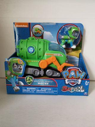 Brand new in box Nickelodeon Paw Patrol Rocky Sea Patrol Vehicle