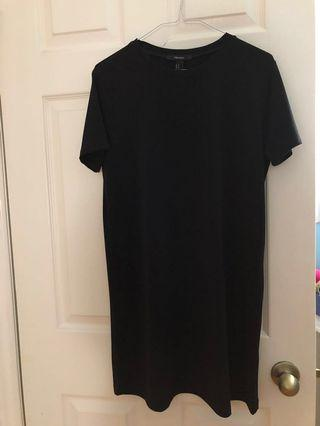 F21 Black T-Shirt Dress