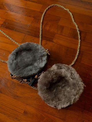 fluffy mini pouch