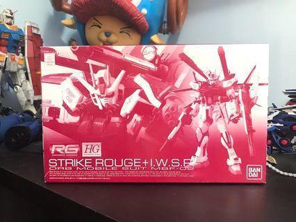 P Bandai RG 1/144 Strike Rouge with HG GUNDAM + I.W.S.P. 嫣紅突擊 高達模型 特別版