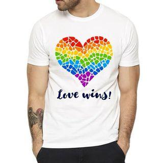 "Rainbow ""Tiled Love Wins"" Tee"