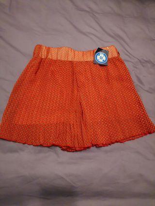 🎈🎈復古紅/短褲裙(S)