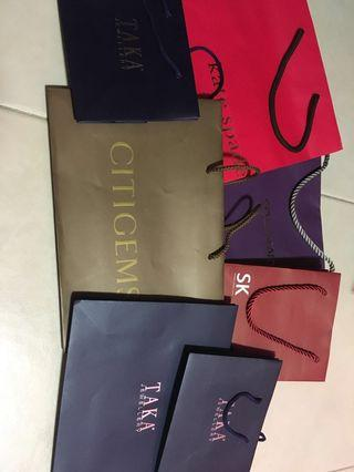 🚚 Jewellery boxes paper bags sk jewellery goldheart Tiffany citigems taka