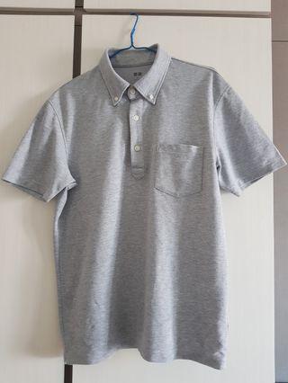 Grey Polo Tee Mens